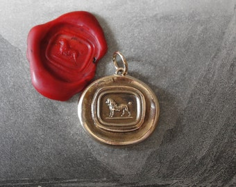 Poodle Wax Seal Pendant - antique wax seal jewelry charm French Poodle Dog by RQP Studio