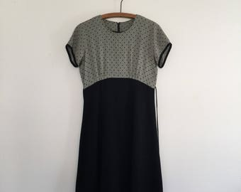 Vintage 90's Black Babydoll Mini Dress M