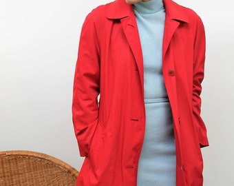 Aquascutum Tomato Red Trench Coat Size UK 12, US 8, EU 40