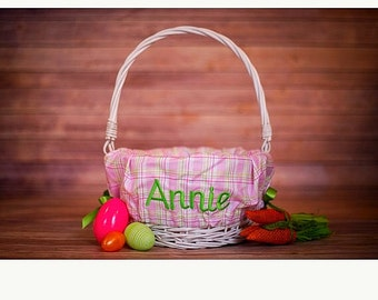 ON SALE Personalized Easter Basket Liner - Personalized Basket Liner For Easter - Easter Basket - 32 Patterns Available