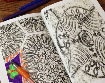 Textures by JillyBean Pottery, A Coloring Book, Digital Download