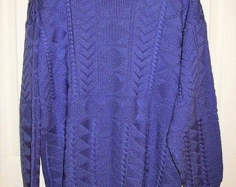 Vintage Ladies Purple Pullover Sweater by Izod Club Large Only 10 USD