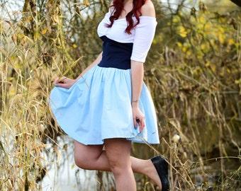 Ariel Dress - Adult Costume- Princess Ariel - Land Dress - Ariel Blue Dress - Disneybound Dress - Kiss the Girl Dress - Ariel Disneybound