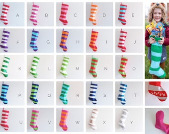 Modern Stockings, Personalized Christmas Stocking Personalized Stocking, Kids Stockings Family Striped Boy Girl Holiday Decoration, Dr Seuss