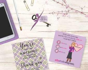 Thank You Discount Tags Shop Tags Small Business 4x4 Cards