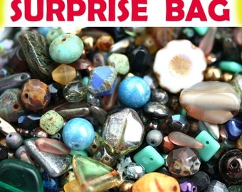 Picasso Beads MIX, Surprise Bag, 20gr Czech glass bead soup, Grab Bag, DIY Beading Supplies, Jewelry Making - 2658