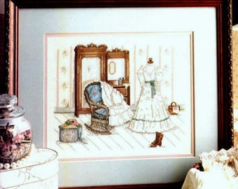 Let's Pretend, Paula Vaughan Book Nineteen, Counted Cross Stitch Chart, 1988 Leisure Arts Leaflet 680, Victorian Dress