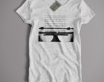 Inspired by The Shining T Shirt - All Work And No Play Typewriter Classic Movie Horror Small-5XL and Lady Fit Sizes Available
