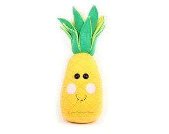 Pineapple Plush Toy, Life Size Pineapple stuffed toy, Kawaii Pineapple Plushie, Food Plush Toy