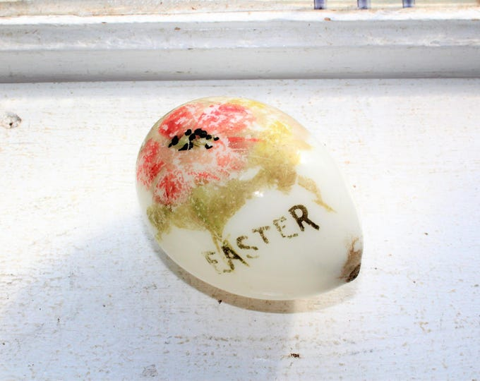 Victorian Milk Glass Easter Egg Antique 1800s Blown Glass