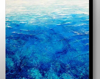 Sea painting | Ocean Painting | Sea Art | Water Ripples | Blue | Water Print | Surf | Waves | Ocean Wall Art | Ocean Art | Water Wall Art