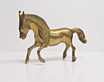 Brass Horse, Brass Horse Figurine, Equine Figurine, Brass Figurine, Horse Figurine, Brass Horse Ornament, Vintage Brass