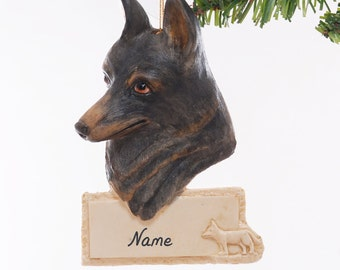 German Shepherd Personalized Christmas Ornament - personalized free with your choice of name, phrase and or year - made in the USA (288)