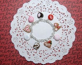 Valentine Treats Bracelet- St Valentine-Lolita- Fairy Kei- Gift For Her-Valentine Gift-Cookie- Chocolate-Women Accessories