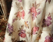 """Apple Pears Cherries Tablecloth, Round Ivory Tablecloth with Fruit 63"""""""