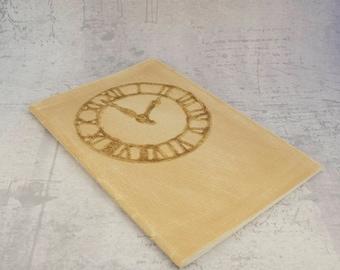 Jotter light brown beige distressed weathered clock notebook journal