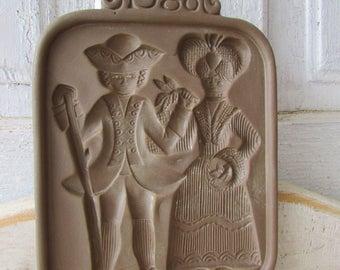 Hartstone cookie mold vintage 1980 George and Martha