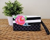 Necessary Clutch Wallet - Bold Floral Stripe - Wristlet, Crossbody, Clutch - Women's Accessories, Gifts under 75