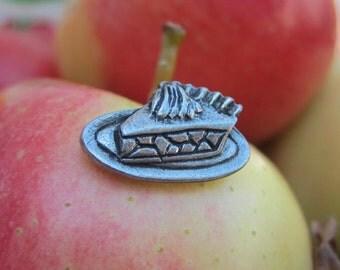 Piece of Pie Lapel Pin- Pie Pins- Baking Gifts- Apple Pie