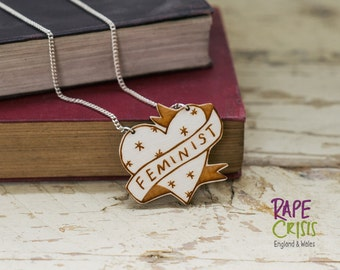 Feminist Heart Necklace