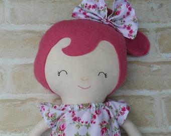 REDUCED Handmade Doll Softie Present Birthday Doll Handmade Girl