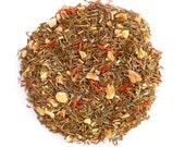 Organic Orange Herbal Tea, ORANGETOPIA BLEND , Green Rooibos, Nightcap, Orange Tea, Fruit Tea ,Iced Tea,Caffeine Free, 2oz, Eco Box