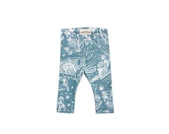 Spirit Garden Leggings in Sage - Printed Leggings - Organic - Kid's Leggings - Baby Gift - Eco - Slow Fashion - Thief&Bandit®
