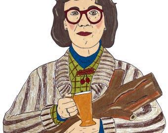 Margaret Lanterman, Log Lady from Twin Peaks Colored Pencil Drawing