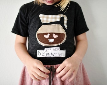 """Swanky Shank Girl or Boy """"You are BREWtiful"""" Tee; Valentine's Day"""