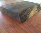 Rustic Walnut Chopping Block with Natural Edge