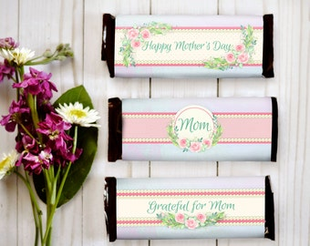 Mother's Day Candy Bar - Mother's Day Gift - Gift for Her - Mother's Day Printable - Candy Bar Wrappers - Happy Mothers Day - Chocolate Gift