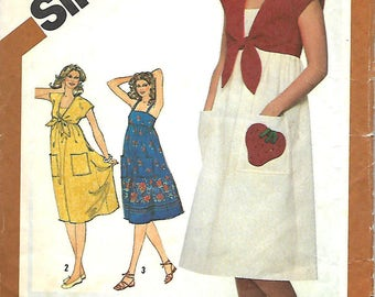 Misses Sundress and Bolero Jacket Pattern, Simplicity 5139, Size 16