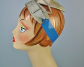 Green Satin Headband / Vt...