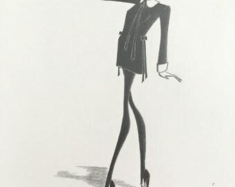 Original fashion illustration - Mod