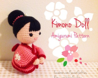 Amigurumi Doll Pattern Crochet Anime Female Girl Plush