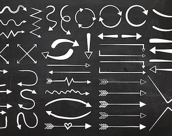 Arrows and Arrows Clip Art Set | Black and White Pointer Direction Symbol Graphics | Digital Illustration Icons | Personal or Commercial Use