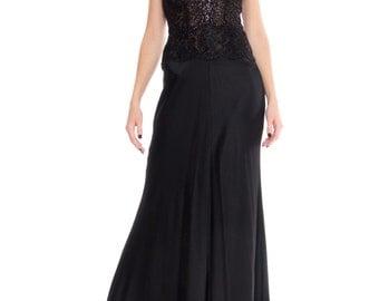 Bergdorf Goodman Bias Cut Lace Gown Size: XS