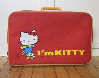 1976 Hello Kitty Suitcase, Sanrio, Yuko Shimizu, Hello Kitty, Suitcase, Juvenile, Child, Red, Hello Kitty, Soft, Overnite, Bag, Japanese