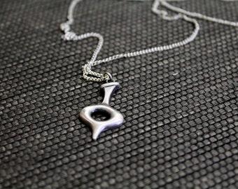 Vintage New Old Stock Kim Craftsmen Symbol Modernist Long Necklace // 60s Jewelry // Symbol // Hallmarked // N327