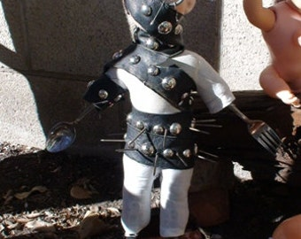 """Ceramic  Doll with Stand - Film Prop in Rebel Mouse Films Production """"The Crying Baby Mystery"""""""