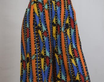 80s African Inspired Print Culottes