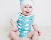 Easter baby outfit, organic baby clothes, bunnies, coming home outfit, bodysuit hat set, Easter outfit, newborn outfit, onesie, bodysuit,