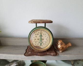 Vintage Antique Pelouze Scale Farmhouse Decor
