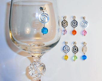 Magnetic Wine Charms, Celtic Wine Glass, Stemless Wine Charms, Magnetic Wine Charms, Bridal Shower Wine Charms, Wedding Wine Charms WC502S