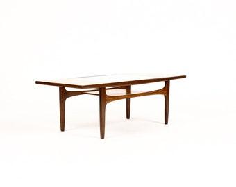 Vintage Danish Modern Mid Century Rectangular Teak Coffee Table G Plan Fresco