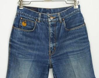 Vintage Gloria Vanderbilt Cut-Off Indigo Denim Shorts size 25