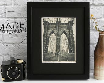 Brooklyn Bridge Print, New York City Wall Art, Black and White Photography, New York City, Brooklyn Print, Brooklyn Bridge Art, New York Art