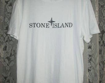 Vintage STONE ISLAND S.I Casuals Terraces wear Logo T-Shirt Original Made In Italy