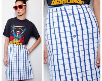 SALE was 200 now 160 cutest vintage 70s/80s COURREGES plaid check A-line skirt