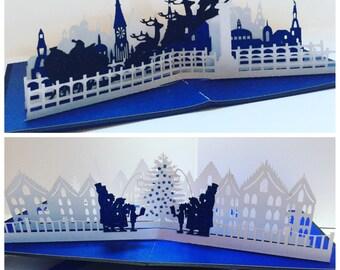 Pop Up Christmas Cards, Christmas card, Holiday Card, handmade Christmas card, pop up christmas cards, keepsake card, special christmas card